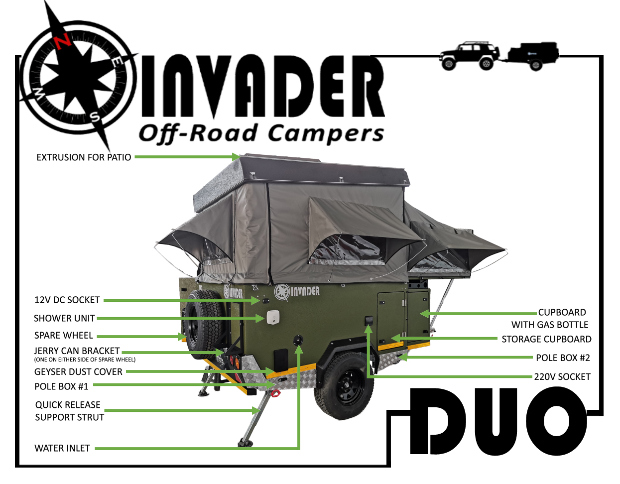 Invader Duo from the back