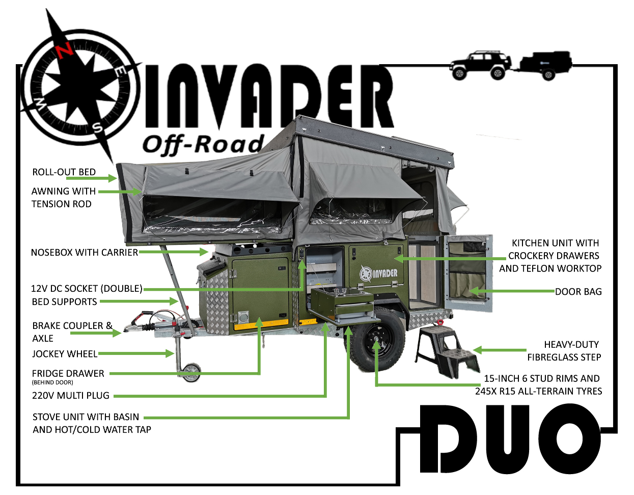 Invader Duo from the front